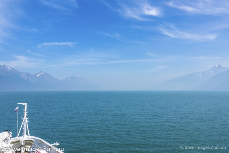 Le Soleal approaches Seward, Alaska