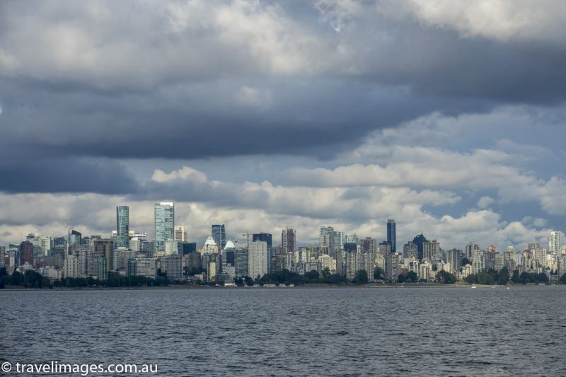 Vancouver skyline from English Bay, Vancouver